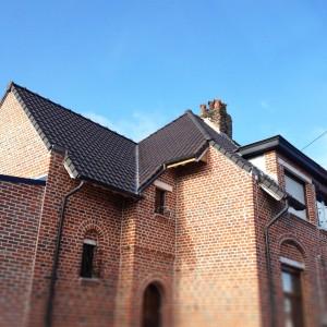 refection d'une toiture en tuile monopole vieillie