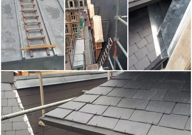 Travaux bac acier, toiture ardoise rénovation sur Lille métropole